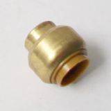 Brass Push Fit 15mm Pipe Stop End Cap - 27611500